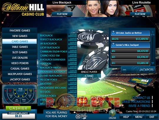 online william hill casino online um geld spielen